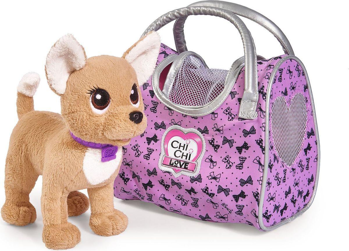 Simba Мягкая игрушка Собачка Путешественница с сумкой-переноской 20 см simba мягкая игрушка плюшевый телефон 16 см