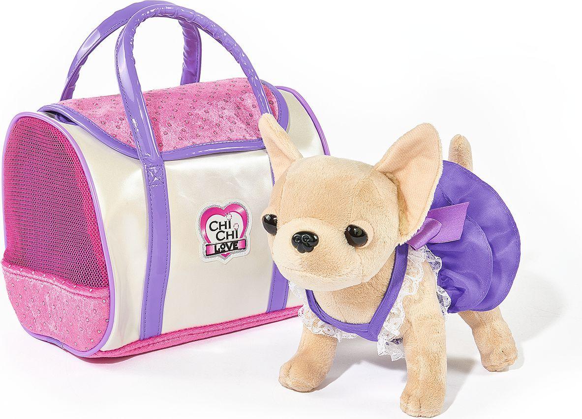 Simba Мягкая игрушка Собачка Чихуахуа в платье с сумкой 20 см