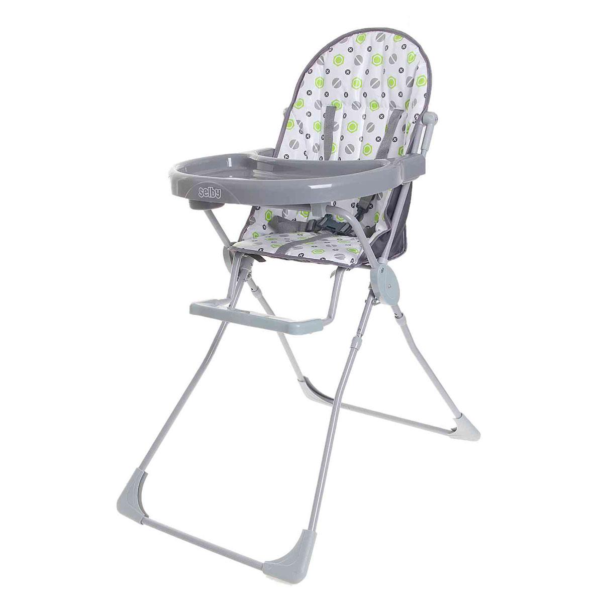 Selby Стульчик для кормления цвет серый selby стульчик для кормления цвет белый зеленый 827378