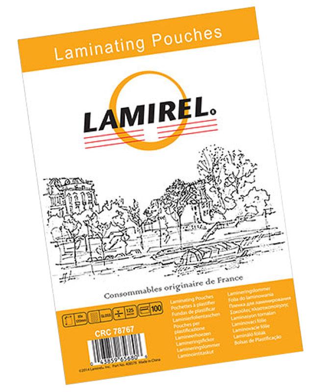 Lamirel LA-78767 85 x 120 мм пленка для ламинирования, 125 мкм (100 шт)LA-78767Пакетная пленка Lamirel LA-78767 предназначена для защиты документов от нежелательных внешних воздействий. Обеспечивает улучшенную защиту от грязи, пыли, влаги. Документ дополнительно получает жесткость на изгиб и защиту от механического воздействия и потертостей. Идеально подходит для интенсивной эксплуатации.Глянцевое покрытие улучшает внешний вид документа: краски становятся глубже, ярче и контрастнее.