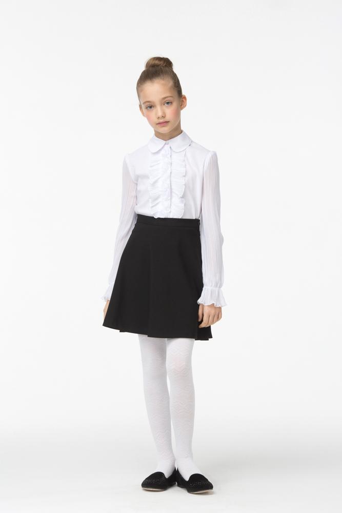 Юбка для девочки Смена, цвет: черный. 16с425. Размер 134/14016с425Юбка для девочки от бренда Смена прекрасно дополнит школьный гардероб. Изделие выполнено из смесовой вискозы. Модель А-силуэта на втачном поясе. Задняя часть пояса юбки дополнена резинкой.
