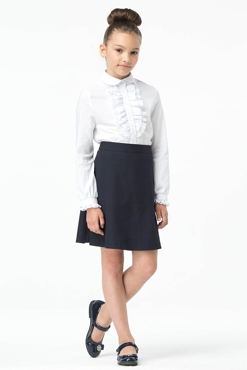 Юбка для девочки Смена, цвет: синий. 16с522. Размер 134/140 юбки