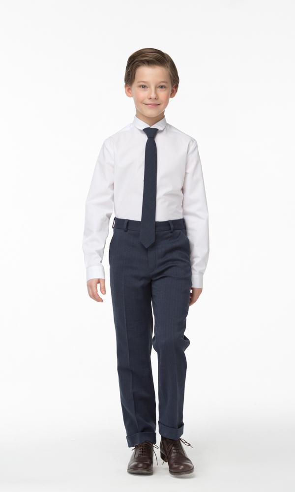 Брюки для мальчика Смена, цвет: синий. 16с764-D6. Размер 158/164 пиджак для мальчика смена цвет серый 16с263 размер 158 164