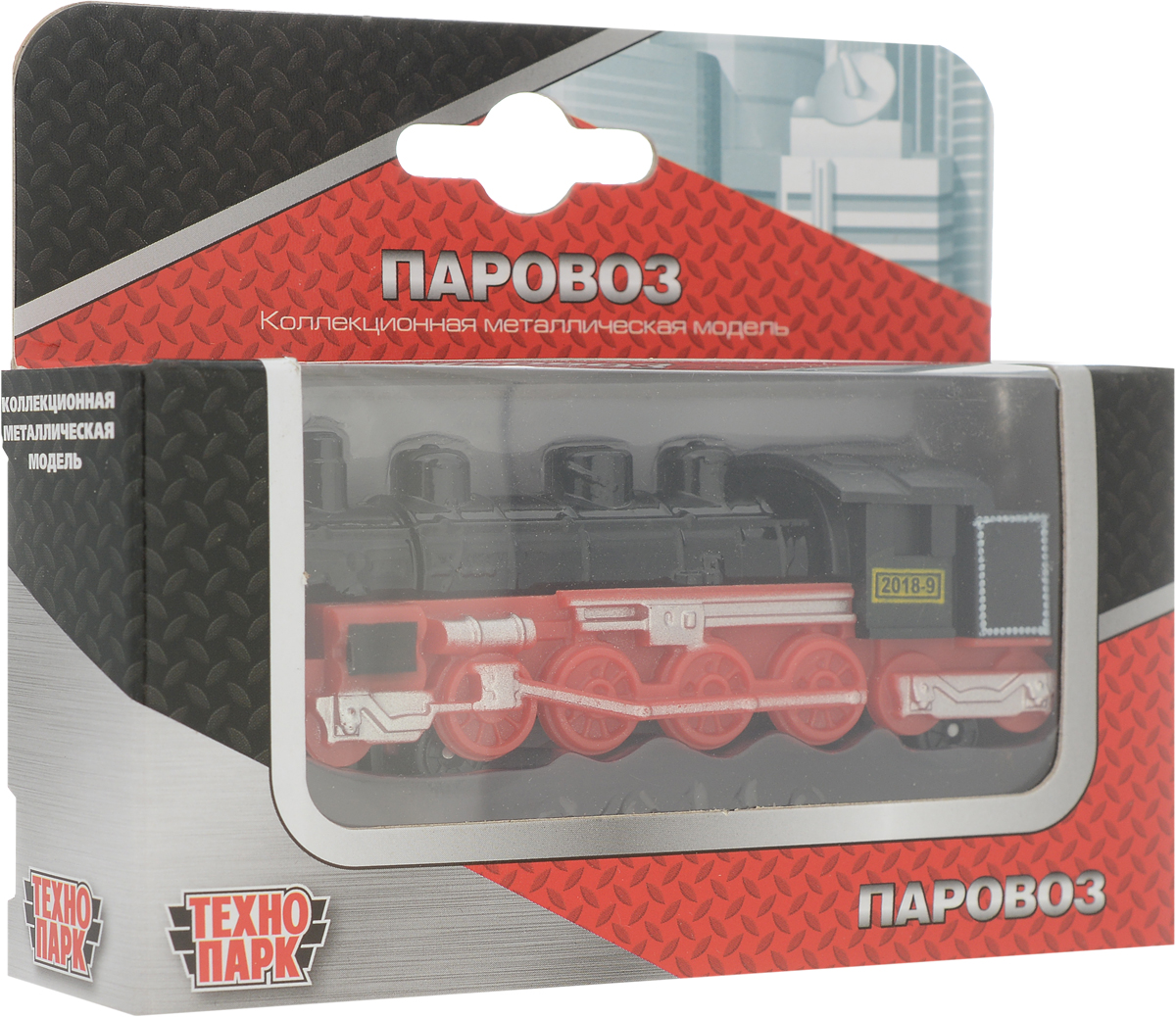 ТехноПарк Паровоз цвет черный красный ТехноПарк