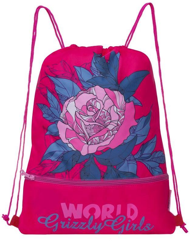 Grizzly Мешок для обуви цвет розовый OM-791-3 grizzly мешок для сменной обуви футбол цвет синий