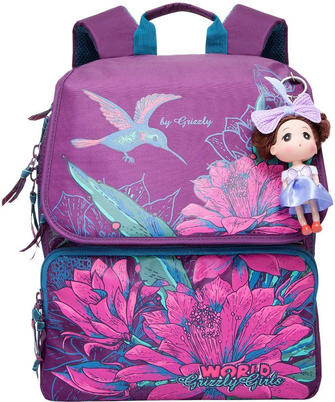 Grizzly Рюкзак цвет фиолетовый RA-672-1 grizzly рюкзак школьный цвет серый ra 780 1