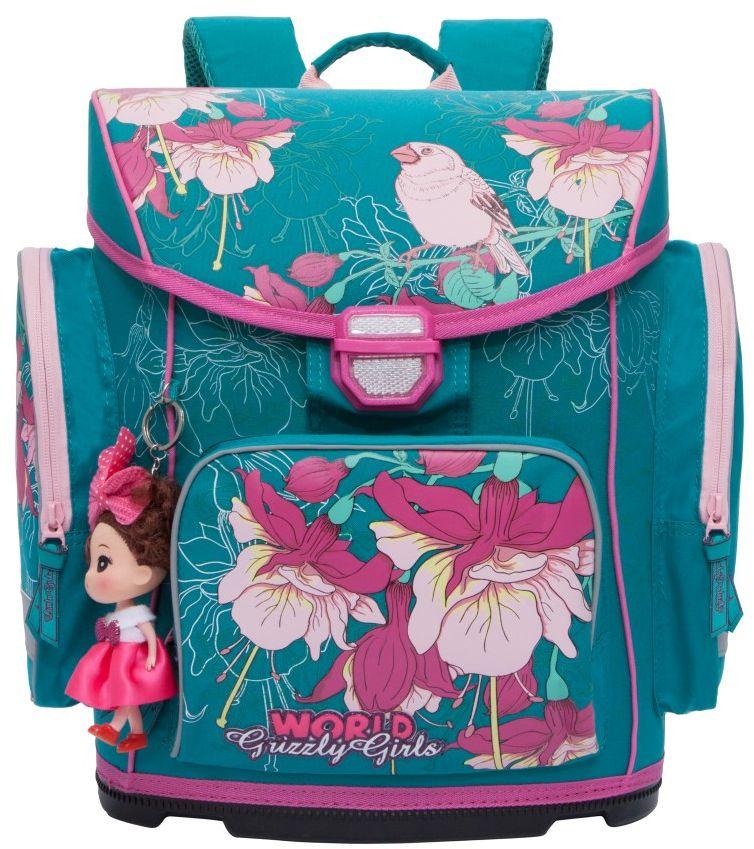 Grizzly Ранец школьный цвет бирюзовый RA-676-1 grizzly рюкзак школьный цвет серый ra 780 1