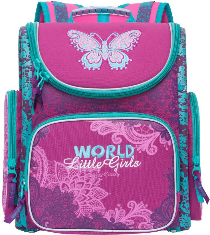 Grizzly Рюкзак школьный цвет фуксия RA-771-6 рюкзаки grizzly рюкзак