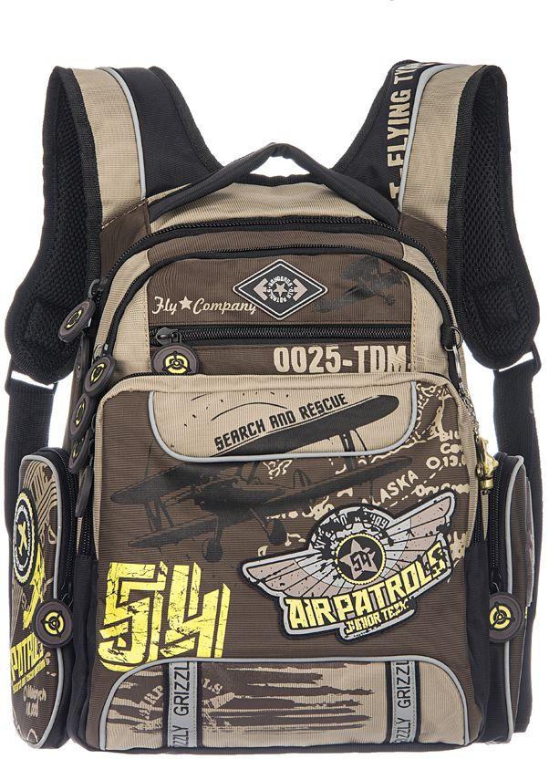 Grizzly Рюкзак цвет коричневый бежевый RB-631-4 рюкзаки grizzly рюкзак