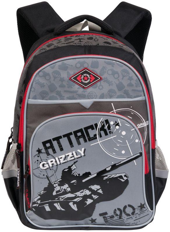 Grizzly Рюкзак RB-632-1RB-632-1/3Рюкзак Grizzly выполнен из полиэстера и оформлен оригинальным изображением.Рюкзак имеет два вместительных отделения на застежках-молниях. На лицевой стороне расположены два кармана. По бокам расположены два сетчатых кармана. Дно рюкзака можно сделать жестким, разложив специальную панель, что повышает сохранность содержимого рюкзака и способствует правильному распределению нагрузки.Рюкзак оснащен удобной текстильной ручкой для переноски в руке, петлей для подвешивания на крючок и светоотражающими элементами.Широкие регулируемые лямки рюкзака и воздухопроницаемая спинка предохраняют мышцы спины ребенка от перенапряжения при длительном ношении. Особая многослойная конструкция задней спинки оснащена мягкими подкладками, принимающими анатомическую форму, что обеспечивает оптимальное прилегание к спине и равномерное распределение нагрузки, а воздухообменная сетка обеспечивает максимальный комфорт при эксплуатации.Многофункциональный рюкзак станет незаменимым спутником вашего ребенка.