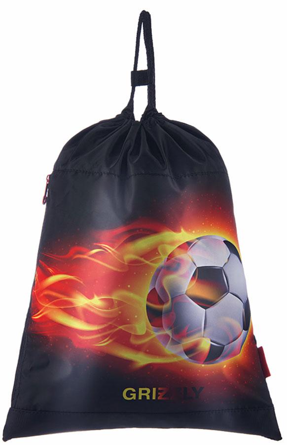 Grizzly Мешок для обуви Футбол цвет красный grizzly мешок для сменной обуви футбол цвет синий