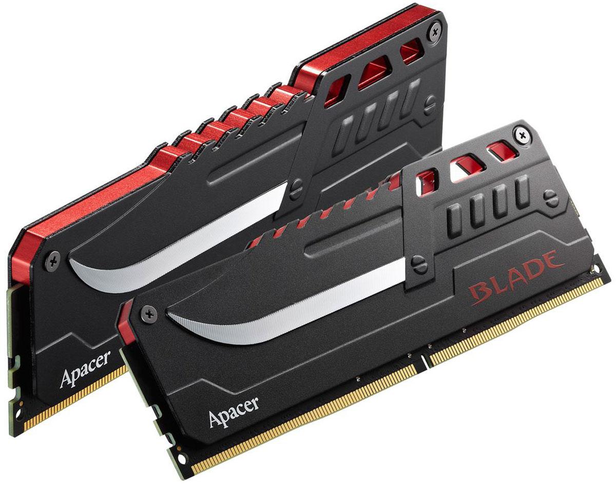 Apacer Blade DDR4 2x8Gb 3000 МГц комплект модулей оперативной памяти (EK.16GAZ.GEBK2)EK.16GAZ.GEBK2Комплект модулей оперативной памяти Apacer Blade типа DDR4 обеспечивает увеличенную рабочую частоту (по сравнению с предыдущем поколением) при сниженном тепловыделении и экономном энергопотреблении. Данная память специально разработана для чипсета Intel Z170, процессоров Intel Skylake и поддерживает новейший стандарт Intel XMP2.0. Саблевидный теплораспределитель гарантирует отличную производительность.Общий объем памяти в 16 ГБ позволит свободно работать со стандартными, офисными и профессиональными ресурсоемкими программами, а также современными требовательными играми. Работа осуществляется при тактовой частоте 3000 МГц и пропускной способности, достигающей до 24000 Мб/с, что гарантирует качественную синхронизацию и быструю передачу данных, а также возможность выполнения множества действий в единицу времени. Параметры тайминга 16-16-16-36 гарантируют быструю работу системы.