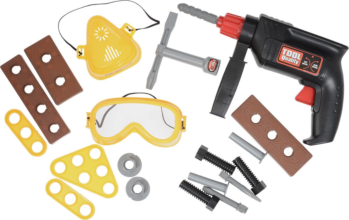 Maxi Toys Игровой набор инструментов с дрелью в кейсе набор инструментов универсальный koruda в кейсе 99 предметов kr tk99