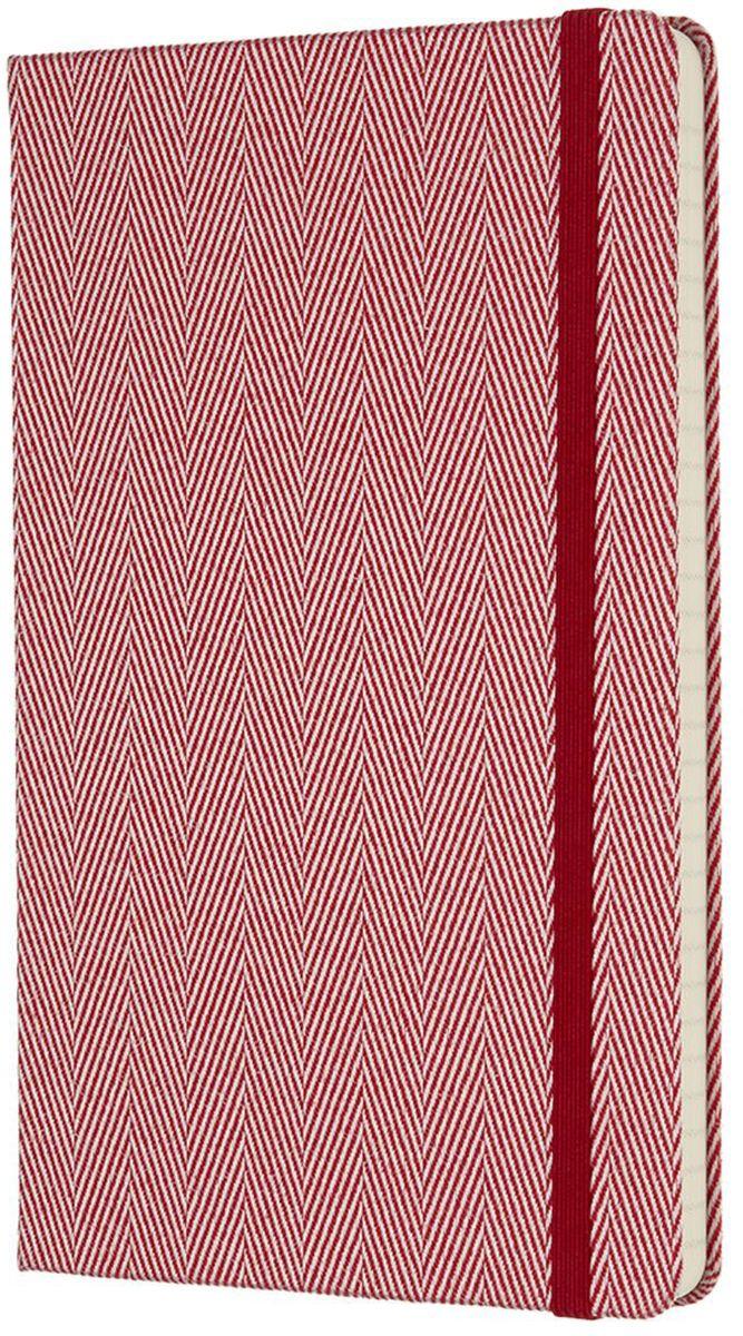 Moleskine Записная книжка Blend Large 96 листов в линейку цвет красный430794Ограниченная серия Blend отличается от привычных записных книжек Moleskine. Обложка записной книжки данной серии выполнена не из привычного картона или эко-кожи, а из крепкой ткани с фактурным плетением. Внутренний блок бумаги в линейку без полей. На первой страничке для заполнения: личные данные владельца. А также неповторимые черты записной книжки: прошитый нитками переплет; практичные скругленные углы; не желтеющие со временем страницы; быстро впитывающая чернила бумага; вместительный внутренний кармашек, закладка-ляссе, эластичная застежка-резинка.