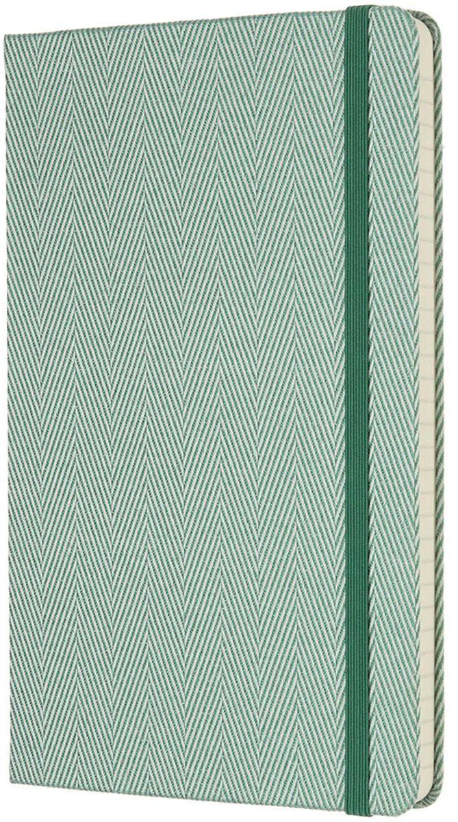 Moleskine Записная книжка Blend Large 96 листов в линейку цвет зеленый430803Ограниченная серия Blend отличается от привычных записных книжек Moleskine. Обложка записной книжки данной серии выполнена не из привычного картона или эко-кожи, а из крепкой ткани с фактурным плетением. Внутренний блок бумаги в линейку без полей. На первой страничке для заполнения: личные данные владельца. А также неповторимые черты записной книжки: прошитый нитками переплет; практичные скругленные углы; не желтеющие со временем страницы; быстро впитывающая чернила бумага; вместительный внутренний кармашек, закладка-ляссе, эластичная застежка-резинка.