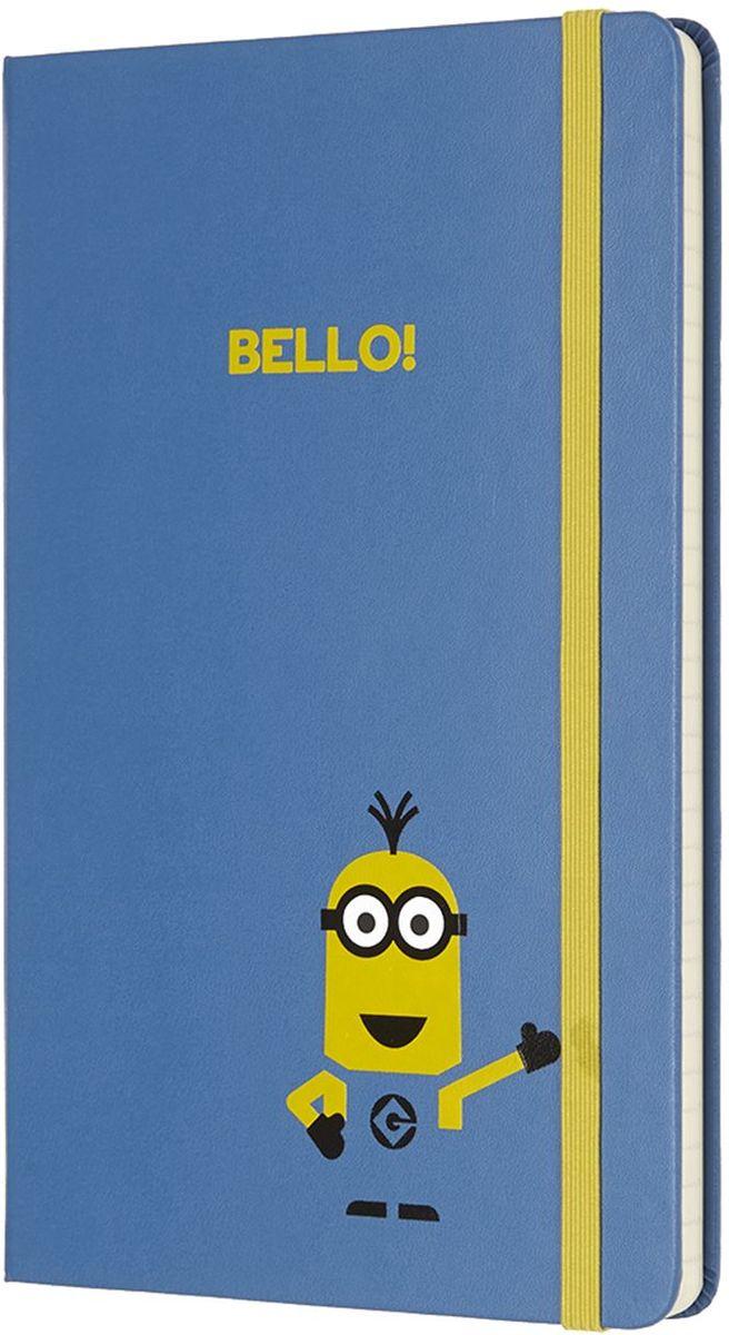 Moleskine Записная книжка Minions Large 120 листов в линейку цвет голубой430901Новая лимитированная коллекция записных книжек от Moleskine приурочена к выходу на экраны третьей части мультфильма Гадкий Я 3. Записные книжки оформлены в характерных цветах: желтый и синий, как всеми любимые желтые Миньоны в своих синий комбинезонах. Внутренний блок состоит из 240 листов в линейку. Неповторимые черты записной книжки Молескин: Прошитый нитками переплет;Практичные скругленные углы;Не желтеющие со временем страницы;Быстро впитывающая чернила бумага;Вместительный внутренний кармашек.