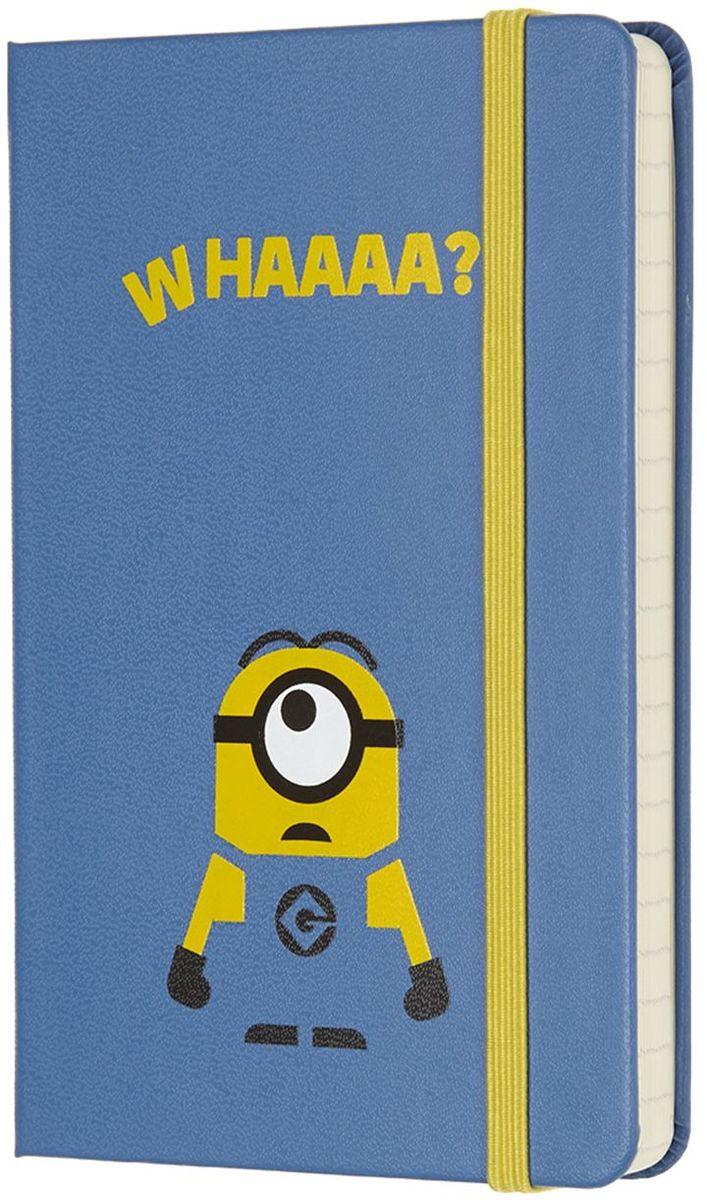 Moleskine Записная книжка Minions Pocket 96 листов в линейку цвет голубой430903Новая лимитированная коллекция записных книжек от Moleskine приурочена к выходу на экраны третьей части мультфильма Гадкий Я 3. Записные книжки оформлены в характерных цветах: желтый и синий, как всеми любимые желтые Миньоны в своих синий комбинезонах. Внутренний блок состоит из 192 листов в линейку. Неповторимые черты записной книжки Молескин: Прошитый нитками переплет;Практичные скругленные углы;Не желтеющие со временем страницы;Быстро впитывающая чернила бумага;Вместительный внутренний кармашек.
