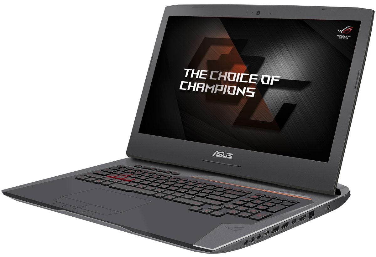 ASUS ROG G752VS (G752VS(KBL)-GC438)G752VS(KBL)-GC438ASUS ROG G752VS - новая модель в линейке геймерских ноутбуков ROG, представляющая собой вершину ее эволюции. В корпусе этого ноутбука, выполненном в темно-серебристом цветовом оформлении с медно-оранжевыми акцентами, скрываются мощные компоненты: новейший процессор Intel Core i7 седьмого поколения, современная видеокарта NVIDIA GeForce GTX 10-й серии и 16 гигабайт оперативной памяти DDR4. Также стоит отметить продуманную систему охлаждения на базе испарительной камеры и эргономичную клавиатуру, способную корректно обрабатывать нажатие множества клавиш одновременно.ROG G752VS предлагает высокую производительность в современных играх за счет мощной аппаратной конфигурации, в которую входят процессор Intel Core i7-7700HQ и видеокарта NVIDIA GeForce GTX 1070.Дисплей ноутбука ROG G752VS отличается повышенной частотой обновления экрана (120 Гц) и широкими углами обзора, благодаря которым изображение не претерпевает существенных искажений цветопередачи при взгляде сбоку. Кроме того, в нем реализована технология NVIDIA G-SYNC, синхронизирующая частоту обновления экрана с частотой вывода кадров графическим процессором.С помощью G-SYNC устраняется неприятный эффект разрыва кадра и уменьшается задержка отображения, что обеспечивает как более высокое качество картинки, так и улучшенную реакцию игры на действия пользователя.Видеокарта NVIDIA GeForce GTX 1070 предлагает полную совместимость с современными системами виртуальной реальности и высокую производительность, необходимую для их надлежащей работы.Для охлаждения графического процессора в данном ноутбуке применяется мощный кулер с испарительной камерой и медными тепловыми трубками. Принцип работы испарительной камеры состоит в том, что находящийся в ней теплоноситель постоянно меняет свое состояние из жидкого в газообразное и обратно. Это решение давно зарекомендовало себя в качестве весьма эффективного способа рассеивания тепла от высокопроизводительных графических чипов.К