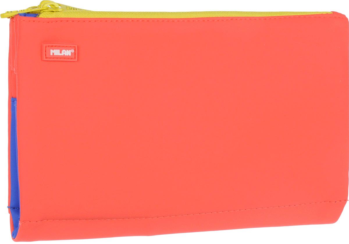 Milan Пенал-косметичка Sway Mix цвет коралловый081136SWMПенал Milan Sway Mix станет не только практичным, но и стильным школьным аксессуаром.Пенал выполнен из прочных материалов и закрывается на пластиковую тракторную застежку-молнию. Состоит из 6 вместительных отделений, в которых без труда поместятся канцелярские принадлежности.Такой пенал-косметичка станет незаменимым помощником для школьника, с ним ручки и карандаши всегда будут под рукой и больше не потеряются.