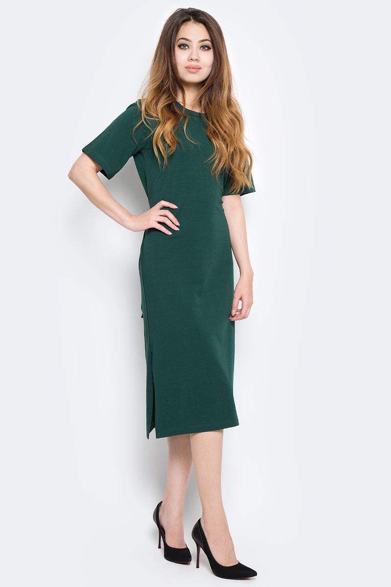Платье Kawaii Factory, цвет: темно-зеленый. KW177-000060. Размер 42/46KW177-000060