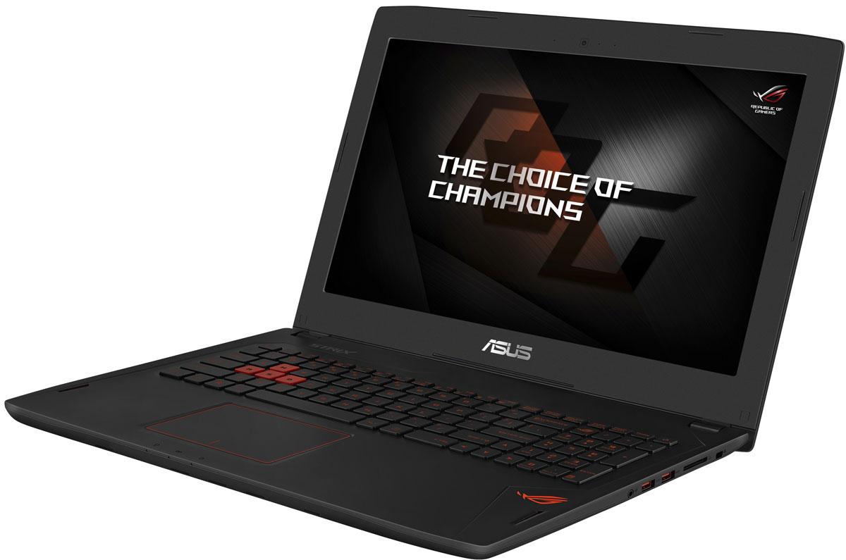 ASUS ROG GL502VS, Black (GL502VS-FI399T)GL502VS-FI399TНоутбук Asus ROG GL502VS - это новейший процессор Intel и геймерская видеокарта NVIDIA GeForce GTX в компактном и легком корпусе. С этим мобильным компьютером вы сможете играть в любимые игры где угодно.В аппаратную конфигурацию ноутбука входит процессор Intel Core i7 седьмого поколения и дискретная видеокарта NVIDIA GeForce GTX 1070 с поддержкой Microsoft DirectX 12. Мощные компоненты обеспечивают высокую скорость в современных играх и тяжелых приложениях, например при редактировании видео.Данная модель оснащается 15-дюймовым IPS-дисплеем с широкими (178°) углами обзора, разрешение которого составляет 3840x2160 пикселей (формат Ultra HD).В ноутбуке реализована высокоэффективная система охлаждения с тепловыми трубками и двумя вентиляторами, независимо друг от друга обслуживающими центральный и графический процессоры. Продуманное охлаждение - залог стабильной работы мобильного компьютера даже во время самых жарких виртуальных сражений.Интерфейс USB 3.1, реализованный в данном ноутбуке в виде обратимого разъема Type-C, обеспечивает пропускную способность на уровне 10 Гбит/с: передача 2-гигабайтного видеофайла займет лишь пару секунд! В число интерфейсов также входит видеовыход mini-DisplayPort, который служит для подключения внешнего монитора или телевизора.Asus ROG GL502VS оснащается оперативной памятью новейшего стандарта DDR4, которая обеспечивает повышенную скорость передачи данных и уменьшенное энергопотребление по сравнению с предыдущими стандартами.Ноутбук оснащается твердотельным накопителем емкостью 256 ГБ, чья высокая скорость передачи данных позволит операционной системе, приложениям и игровым данным загружаться быстрее, а для хранения больших объемов можно воспользоваться традиционным жестким диском емкостью 1 ТБ.Клавиатура ноутбука оптимизирована специально для геймеров: ее клавиши сделаны на основе ножничного механизма, а знаменитая комбинация WASD выделена среди остальных.Микрофонный массив, реализов