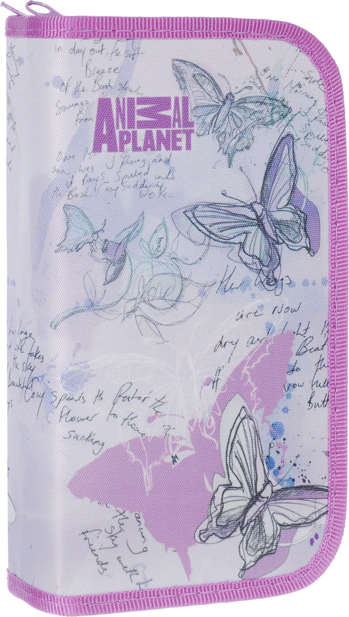 Action! Пенал Animal Planet цвет сиреневый AP-APC4227/2 пенал на трех молниях action animal planet ap pc03 03