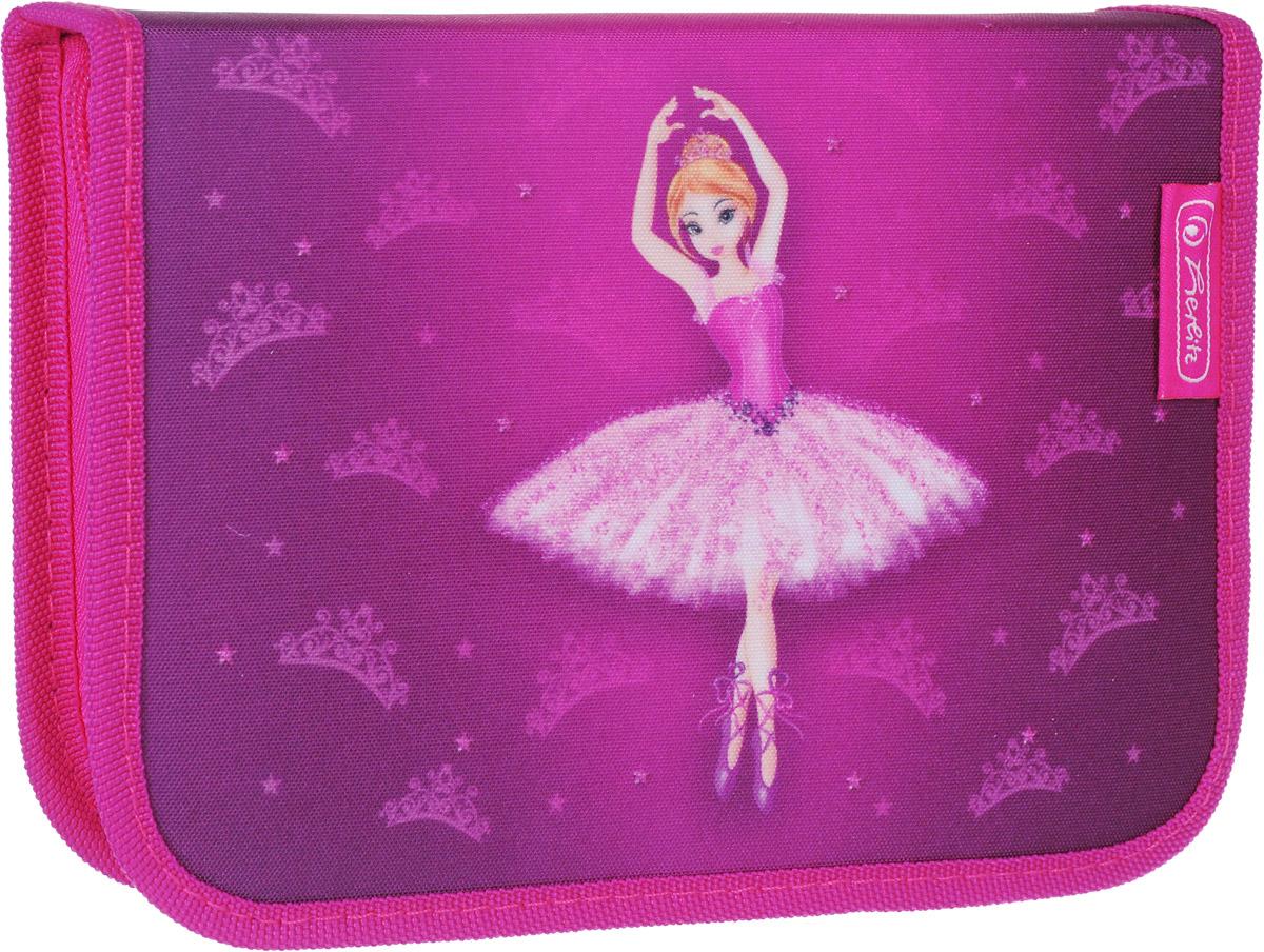 Herlitz Пенал Ballerina с наполнением 31 предмет50008315Пенал Herlitz Ballerina станет не только практичным, но и стильным школьным аксессуаром.Пенал очень вместительный и с ярким дизайном. Состоит из одного отделения на молнии с двумя откидными плотными створками. В наполнение пенала входят шариковая ручка, 2 чернографитных карандаша, 8 цветных карандашей, 14 фломастеров, линейка, угольник, ластик, точилка, расписание уроков на русском языке, личные данные ученика.Такой пенал станет незаменимым помощником для школьника, с ним ручки и карандаши всегда будут под рукой и больше не потеряются.