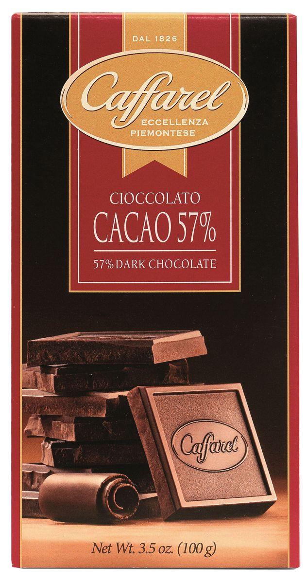 Caffarel шоколад горький 57%, 100 г