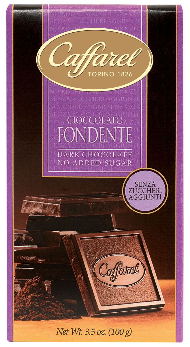 Caffarel шоколад темный без сахара, 100 г