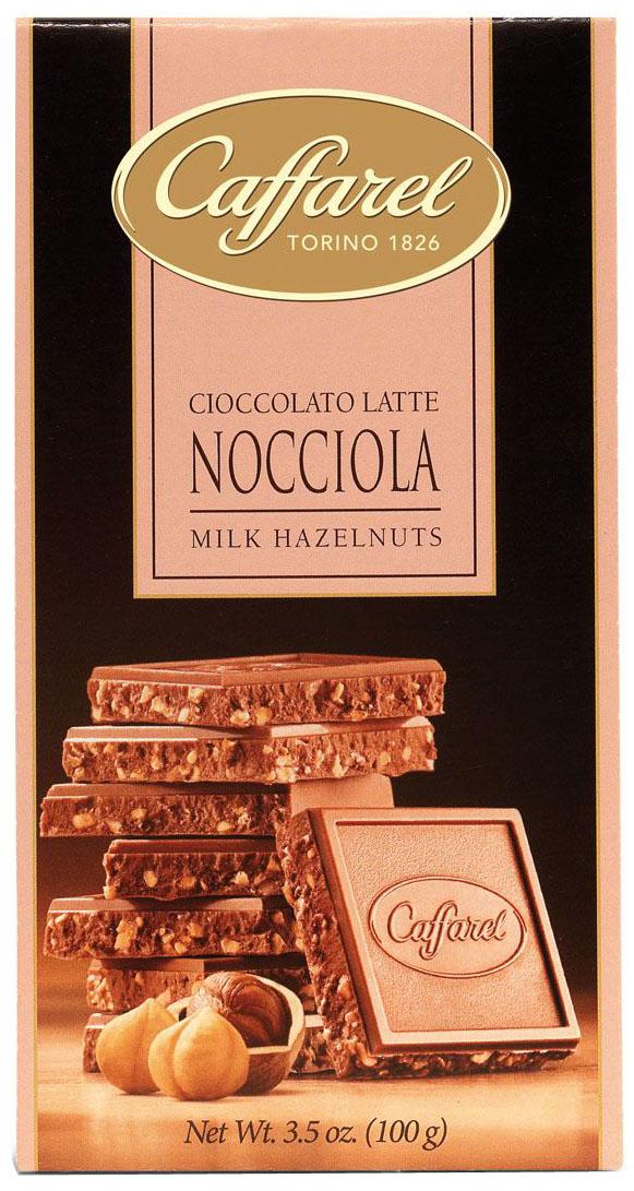 Caffarel шоколад молочный с лесным орехом, 100 г недорого