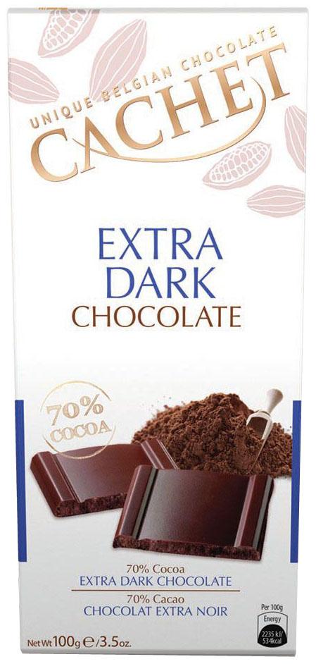 Cachet шоколад горький 70% какао, 100 г laima горький шоколад 70% 100 г