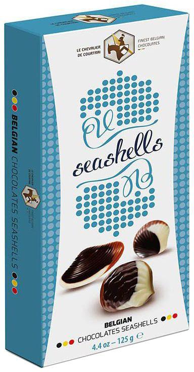 Le Chevalier de Courtrai Морские Ракушки конфеты шоколадные с начинкой пралине, 125 г шоколадные годы конфеты ассорти 190 г