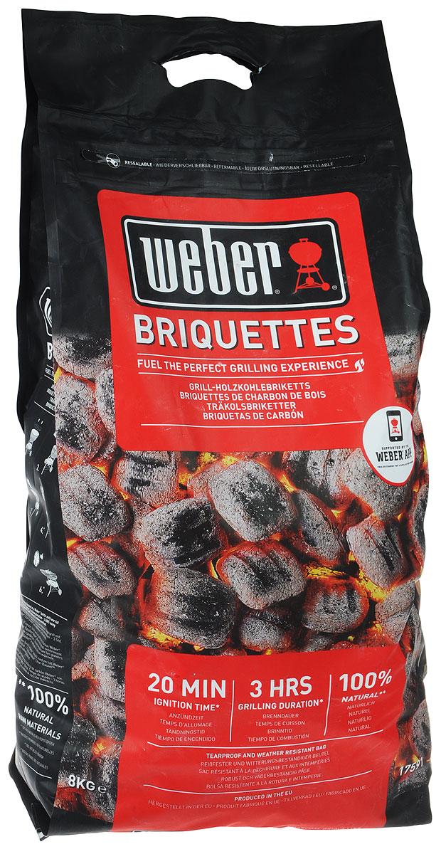 Брикеты угольные Weber, 8 кг труба стартер для разжигания угля weber