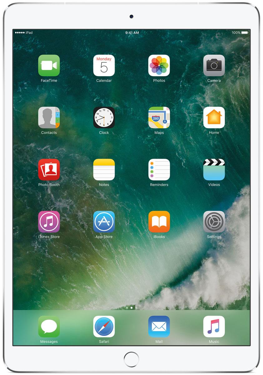 Apple iPad Pro 10.5 Wi-Fi + Cellular 256GB, SilverMPHH2RU/AКакая бы задача перед вами ни стояла, iPad Pro готов за неё взяться. Он мощнее многих ноутбуков и при этом гораздо удобнее. Дисплей Retina получил впечатляющие возможности и стал потрясающе быстро отзываться на касания.А ещё на устройстве установлена iOS - самая передовая мобильная операционная система в мире. У iPad Pro есть всё, что вам нужно от современного компьютера. И даже больше.Multi-Touch на iPad всегда производил большое впечатление. А новый дисплей Retina поднимает планку ещё выше. Он не только ярче и отражает меньше бликов. Благодаря новой технологии ProMotion существенно выросла и скорость его отклика. Поэтому неважно, что вы делаете - пролистываете страницу в Safari или играете в ресурсоёмкую 3D-игру, - iPad Pro мгновенно отзывается на каждое касание.Дисплей Retina на новом iPad Pro работает на базе технологии ProMotion, которая поддерживает частоту обновления в 120 Гц. И это невероятно красиво. Фильмы и видео смотрятся просто потрясающе, графика в играх буквально летает - без артефактов и сбоев. А при касании дисплея пальцами или Apple Pencil устройство реагирует молниеносно.Процессор A10X Fusion с 64-битной архитектурой и шестью ядрами обеспечивает вас потрясающей мощью. Вы сможете на ходу обрабатывать видеоролики с разрешением 4K. Делать рендеринг сложных 3D-моделей. Открывать большие документы и добавлять свои зарисовки. Всё очень быстро и легко. При этом iPad Pro по-прежнему будет работать без подзарядки целый день.iOS раскрывает способности iPad, делая его ещё более удобным и полезным устройством. Новые функции системы помогают по-другому взглянуть на решение привычных задач. Многое можно настроить на свой вкус. Так что теперь у вас есть все возможности для покорения новых высот.Невероятная производительность, передовой дисплей, две камеры, сверхскоростная беспроводная связь и аккумулятор на целый день работы - всё это умещается в тонком и изящном корпусе iPad Pro. Поэтому вы можете брать