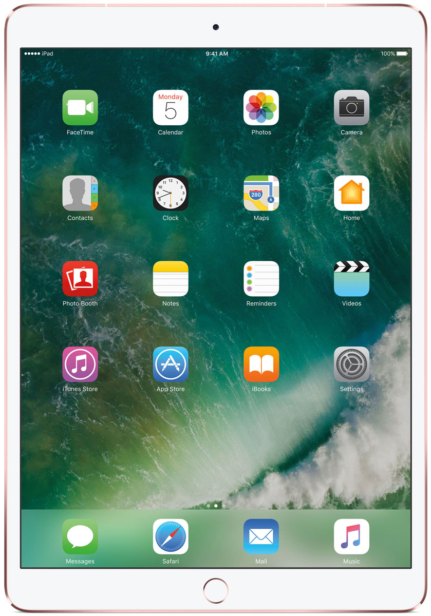 Apple iPad Pro 10.5 Wi-Fi + Cellular 256GB, Rose GoldMPHK2RU/AКакая бы задача перед вами ни стояла, iPad Pro готов за неё взяться. Он мощнее многих ноутбуков и при этом гораздо удобнее. Дисплей Retina получил впечатляющие возможности и стал потрясающе быстро отзываться на касания.А ещё на устройстве установлена iOS - самая передовая мобильная операционная система в мире. У iPad Pro есть всё, что вам нужно от современного компьютера. И даже больше.Multi-Touch на iPad всегда производил большое впечатление. А новый дисплей Retina поднимает планку ещё выше. Он не только ярче и отражает меньше бликов. Благодаря новой технологии ProMotion существенно выросла и скорость его отклика. Поэтому неважно, что вы делаете - пролистываете страницу в Safari или играете в ресурсоёмкую 3D-игру, - iPad Pro мгновенно отзывается на каждое касание.Дисплей Retina на новом iPad Pro работает на базе технологии ProMotion, которая поддерживает частоту обновления в 120 Гц. И это невероятно красиво. Фильмы и видео смотрятся просто потрясающе, графика в играх буквально летает - без артефактов и сбоев. А при касании дисплея пальцами или Apple Pencil устройство реагирует молниеносно.Процессор A10X Fusion с 64-битной архитектурой и шестью ядрами обеспечивает вас потрясающей мощью. Вы сможете на ходу обрабатывать видеоролики с разрешением 4K. Делать рендеринг сложных 3D-моделей. Открывать большие документы и добавлять свои зарисовки. Всё очень быстро и легко. При этом iPad Pro по-прежнему будет работать без подзарядки целый день.iOS раскрывает способности iPad, делая его ещё более удобным и полезным устройством. Новые функции системы помогают по-другому взглянуть на решение привычных задач. Многое можно настроить на свой вкус. Так что теперь у вас есть все возможности для покорения новых высот.Невероятная производительность, передовой дисплей, две камеры, сверхскоростная беспроводная связь и аккумулятор на целый день работы - всё это умещается в тонком и изящном корпусе iPad Pro. Поэтому вы можете бр