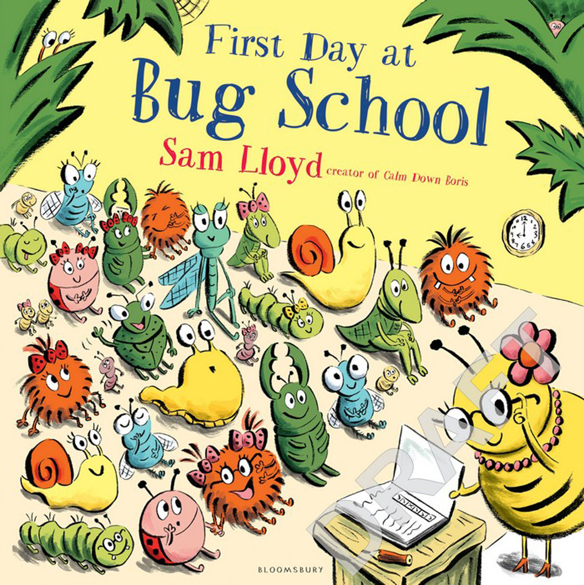 First Day at Bug School like bug juice on a burger