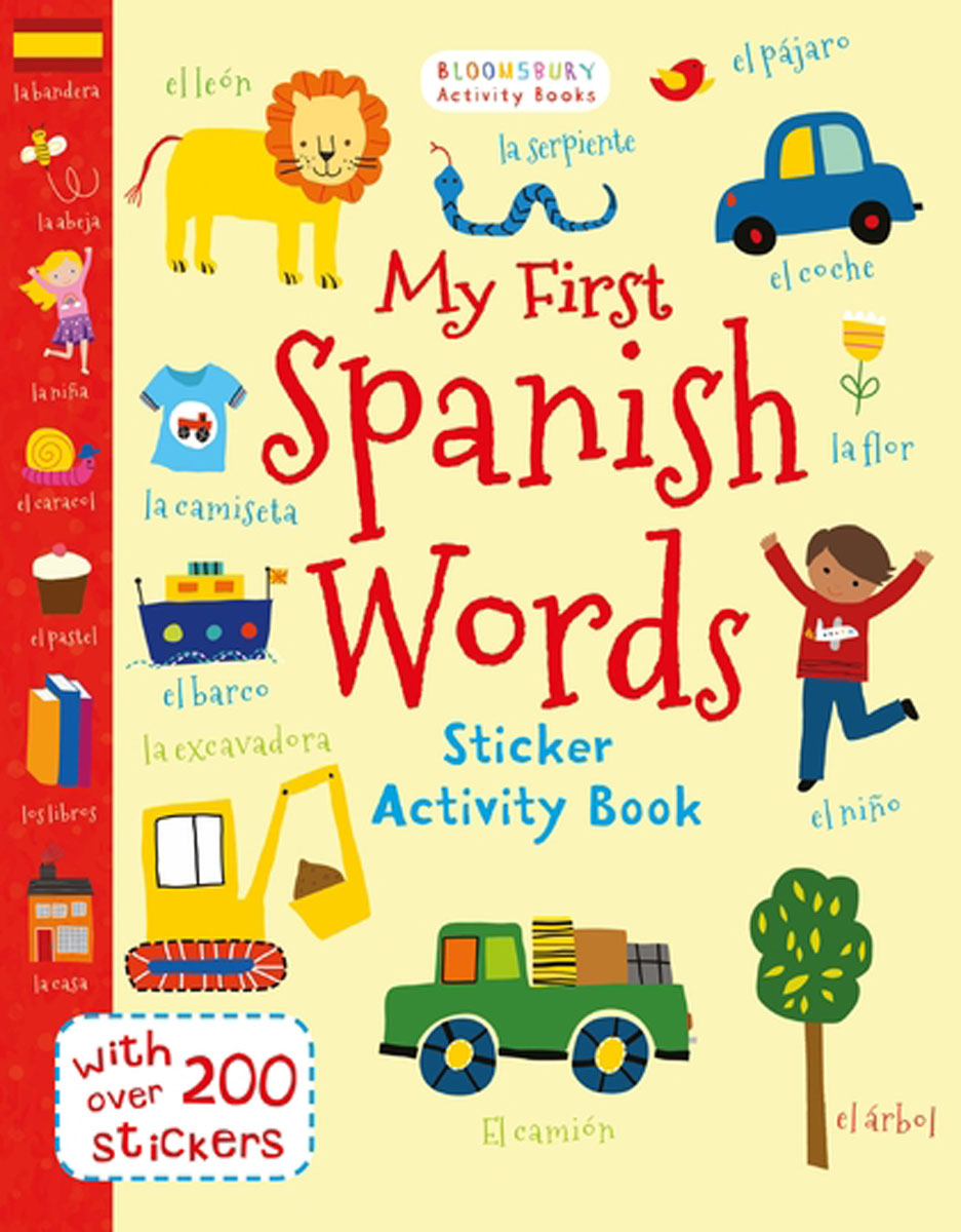 My First Spanish Words first sticker book easy spanish words