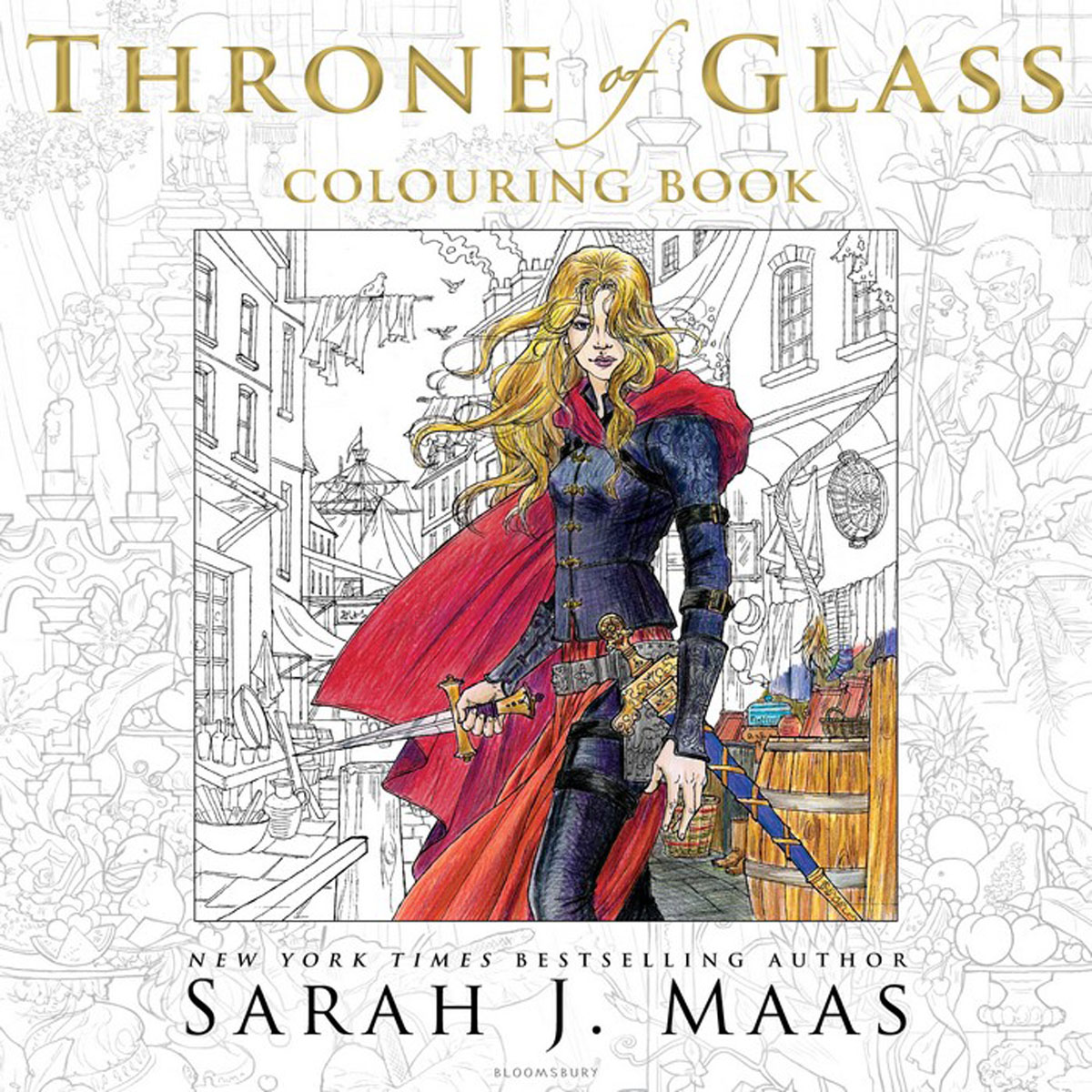 The Throne of Glass Colouring Book the templar throne
