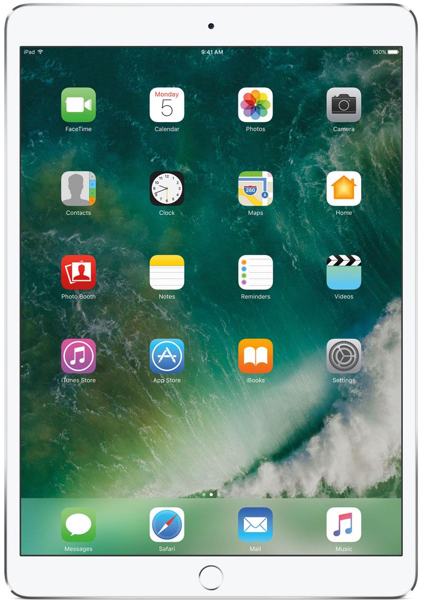 Apple iPad Pro 10.5 Wi-Fi 256GB, SilverMPF02RU/AКакая бы задача перед вами ни стояла, iPad Pro готов за неё взяться. Он мощнее многих ноутбуков и при этом гораздо удобнее. Дисплей Retina получил впечатляющие возможности и стал потрясающе быстро отзываться на касания.А ещё на устройстве установлена iOS - самая передовая мобильная операционная система в мире. У iPad Pro есть всё, что вам нужно от современного компьютера. И даже больше.Multi-Touch на iPad всегда производил большое впечатление. А новый дисплей Retina поднимает планку ещё выше. Он не только ярче и отражает меньше бликов. Благодаря новой технологии ProMotion существенно выросла и скорость его отклика. Поэтому неважно, что вы делаете - пролистываете страницу в Safari или играете в ресурсоёмкую 3D-игру, - iPad Pro мгновенно отзывается на каждое касание.Дисплей Retina на новом iPad Pro работает на базе технологии ProMotion, которая поддерживает частоту обновления в 120 Гц. И это невероятно красиво. Фильмы и видео смотрятся просто потрясающе, графика в играх буквально летает - без артефактов и сбоев. А при касании дисплея пальцами или Apple Pencil устройство реагирует молниеносно.Процессор A10X Fusion с 64-битной архитектурой и шестью ядрами обеспечивает вас потрясающей мощью. Вы сможете на ходу обрабатывать видеоролики с разрешением 4K. Делать рендеринг сложных 3D-моделей. Открывать большие документы и добавлять свои зарисовки. Всё очень быстро и легко. При этом iPad Pro по-прежнему будет работать без подзарядки целый день.iOS раскрывает способности iPad, делая его ещё более удобным и полезным устройством. Новые функции системы помогают по-другому взглянуть на решение привычных задач. Многое можно настроить на свой вкус. Так что теперь у вас есть все возможности для покорения новых высот.Невероятная производительность, передовой дисплей, две камеры, сверхскоростная беспроводная связь и аккумулятор на целый день работы - всё это умещается в тонком и изящном корпусе iPad Pro. Поэтому вы можете брать его с собо