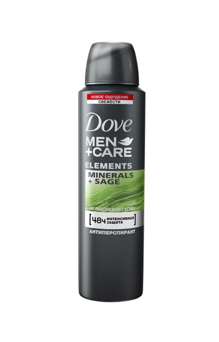 Dove Men+Care антиперспирант аэрозоль Свежесть минералов и шалфея, 150 мл67105219Антиперспирант, разработанный специально для мужчин, беспощаден к поту, но не к коже. Инновационная формула антиперспиранта для эффективной защиты от пота и запаха помогает ухаживать за мужской кожей 48 часов с момента нанесения. Раскройте силу и свежесть натуральных природных компонентов с новой линейкой ElementsПоявление бренда Dove связано с созданием уникального очищающего средства для кожи, не содержащего щелочи. Формула единственного в своем роде крем-мыла на четверть состоит из увлажняющего крема - именно это его качество помогает защищать кожу от раздражения и сухости, которые неизбежны при использовании обычного мыла. Dove —марка, которая известна благодаря авангардному изобретению: мягкому крем-мылу. Dove любим миллионами, ведь они не содержат щелочи, оказывают мягкое, щадящее воздействие на кожу лица и тела. Удивительное по своим свойствам крем-мыло довольно быстро стало одним из самых популярных косметических средств. Успех этого продукта был настолько велик, что производители долгое время не занимались расширением ассортимента. Прошло почти сорок лет с момента регистрации товарного знака Dove, прежде чем свет увидел крем-гель для душа и другие косметические средства этой марки. Все они создаются на основе формулы, разработанной еще в прошлом веке, но не потерявшей своей актуальности. На сегодняшний день этот бренд по праву считается олицетворением красоты, здоровья и заботы. Помимо женской линии косметики выпускаются детские косметические средства и косметика для мужчин. Несмотря на широкий ассортимент предлагаемых средств по уходу за кожей и волосами, завоевавших признание в более чем 80 странах по всему миру, производители находятся в постоянном поиске новых формул. Dove считается одним из ведущих в своей области. Он известен миллионам людей в почти сотне стран по всему миру. В мире Dove красота — это источник уверенности в себе, а не беспокойства. Миссия бренда — дать но