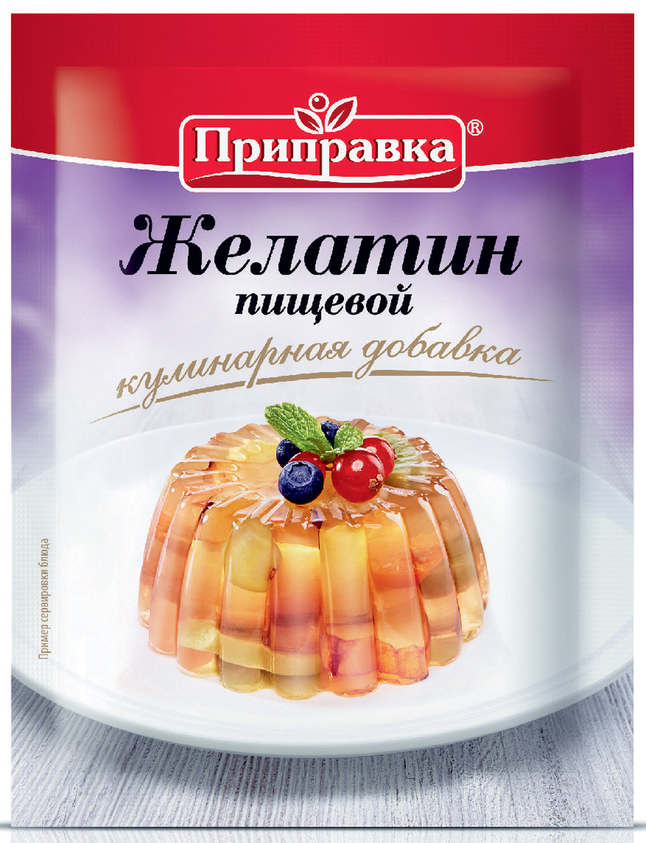 Приправка желатин пищевой, 15 г листовой желатин 22 гр