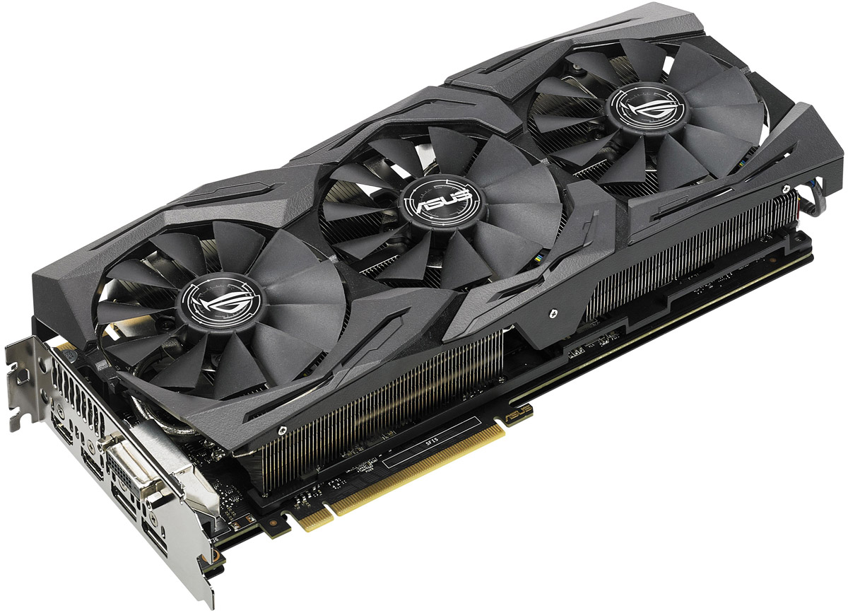 ASUS ROG Strix GeForce GTX 1080 OC 8GB видеокарта (11Gbps)