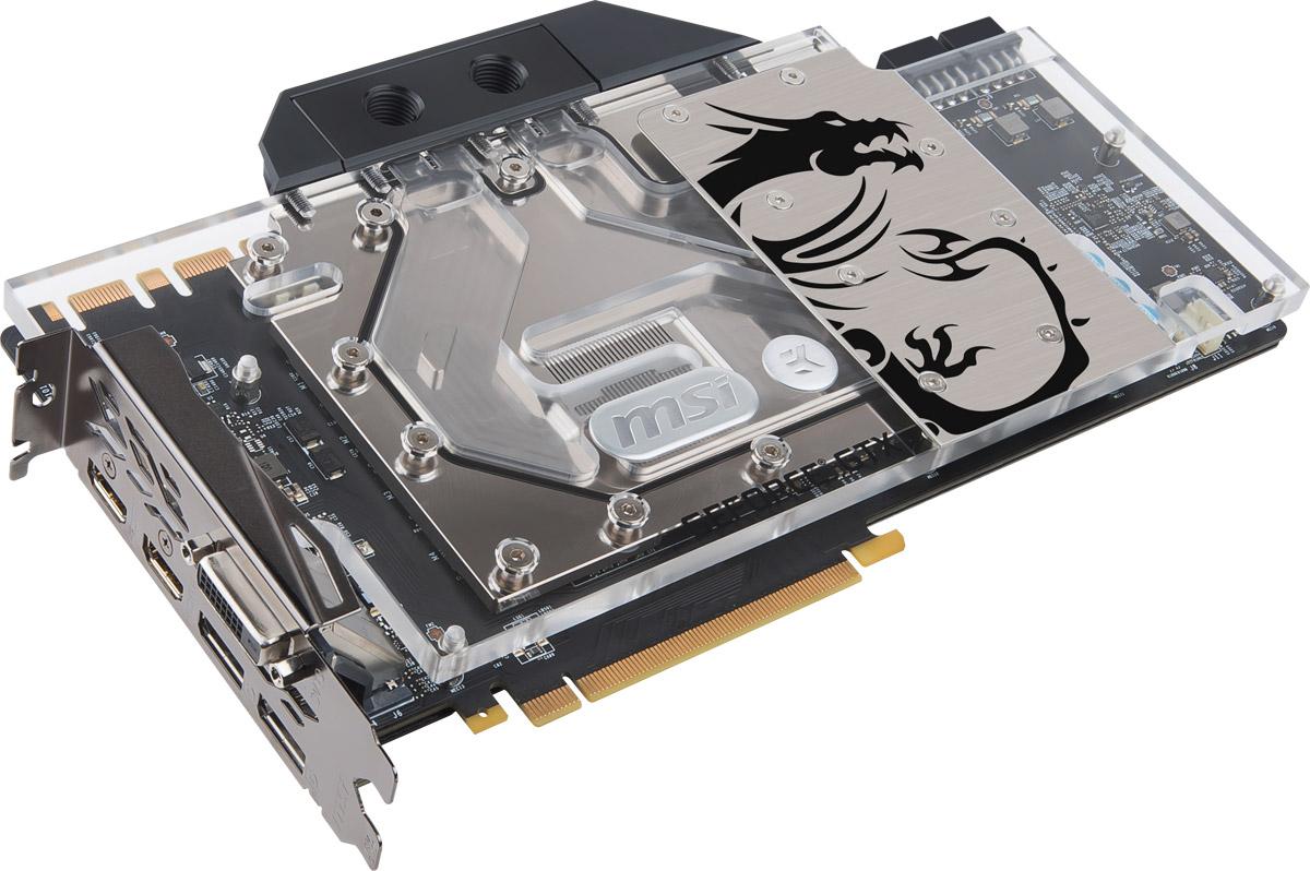 MSI GeForce GTX 1080 TI Sea Hawk EK X 11GB видеокартаGTX 1080 TI SEA HAWK EK XMSI GeForce GTX 1080 TI Sea Hawk EK X демонстрирует наивысшую производительность и поддерживает передовые технологии NVIDIA GameWorks и GeForce Experience в самых современных компьютерных играх.Ядро Pascal разработано специально для работы с дисплеями следующего поколения, включая решения для виртуальной реальности, ультра-высокое разрешение и подключение нескольких мониторов. Технологии NVIDIA GameWorks обеспечивают максимально плавный геймплей и кинематографическое качество. Кроме этого, становится возможным осуществлять захват видео с революционно новыми возможностями - углом обзора 360 градусов.MSI Sea Hawk EK X - это результат революционного сотрудничества компаний MSI и EKWB. На видеокарту, являющуюся верхом инженерного искусства, установлена известная жидкостная система охлаждения EK. В результате этого получилась одна из самых холодных и определенно самая тихая графическая карта на рынке.Специальный дизайн впускного канала охлаждающей жидкости обеспечивает лучшую производительность системы охлаждения даже при использовании экономичных помп.Основание водоблока прекрасно охлаждает такие критически важные компоненты как, графический процессор, память и преобразователь напряжения PWM. Это способствует превосходным температурным показателям видеокарты.В самом сердце Sea Hawk EK X находится медное, никелированное основание. Медь, как известно, обладает прекрасной теплопроводностью, а тонкий слой никеля предотвращает коррозию, сохраняя высокие характеристики системы охлаждения в течение продолжительного времени.Мощная видеокарта требует мощного основания. Графические карты MSI SEA HAWK EK X оснащаются мощной металлической пластиной бэкплейт, что добавляет видеокарте жесткости. Бэкплейт на графических картах MSI SEA HAWK EK X имеет светодиодную подсветку RGB Mystic Light, которой можно управлять при помощи приложения MSI Gaming App.Для того чтобы в полной мере насладиться впечатляющими мир