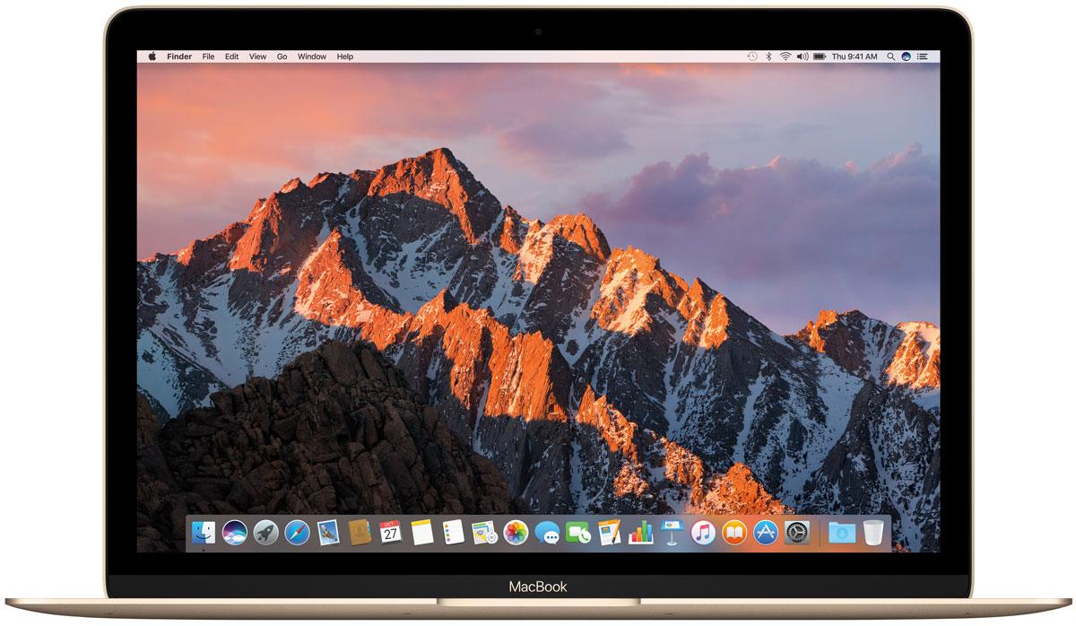 Apple MacBook 12, Gold (MNYK2RU/A)MNYK2RU/AApple MacBook 12 - стильный и инновационный ноутбук будущего. Это легкий и ультратонкий мобильныйкомпьютер с длительным сроком автономной работы и цельным дизайном.Клавиатура обновлена от А до Я.Каждый компонент клавиатуры был спроектирован специально для нового MacBook: основной механизм, формаизгиба клавиш и даже новый уникальный шрифт. В результате клавиатура стала гораздо тоньше, чем всепредыдущие. Теперь, когда вы нажимаете на клавишу, она чётко опускается и поднимается без малейшихзадержек - и ваш текст набирается быстрее и точнее. Новый механизм бабочка представляет собой цельныйэлемент, изготовленный из более жёстких материалов, с большей площадью опоры. Благодаря этому клавишистали более устойчивыми, точнее реагируют на нажатия и при этом занимают меньше места по высоте. Этаинновационная технология обеспечивает более чёткую и стабильную работу вне зависимости от того, накакую часть клавиши вы нажимаете.Для нового MacBook были созданы более тонкие клавиши с более широкой поверхностью и глубоким изгибом,чтобы палец точнее попадал в центр и нажатие получалось более естественным. На первый взгляд измененияминимальны, но работать с клавиатурой стало ощутимо проще и удобнее. А в сочетании с механизмомбабочка новая клавиатура позволяет печатать с гораздо большей точностью.Потрясающая реалистичность изображения - не единственное достоинство 12-дюймового дисплея Retina нановом MacBook. Он ещё и невероятно тонкий. На самом деле, это самый тонкий дисплей Retina, который когда- либо использовался на Mac: всего 0,88 миллиметра. Специально разработанный процесс автоматическогопроизводства позволяет выпускать стекло толщиной всего 0,5 миллиметра, которое полностью покрываетэкран. Увеличенная апертура пикселей позволяет пропускать больше света, а также сократитьэнергопотребление подсветки LED на 30% по сравнению с дисплеями Retina на других ноутбуках Mac, сохранивтот же уровень яркости.Трекпад Force TouchВнешне новый трекпад Force