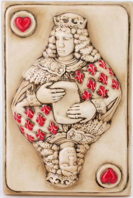 Керамическое панно ZORA Король червей, 15 х 22 см. Авторская работа. ZS-KH-23ZS-KH-23Керамика Zoraдва обжига,ручная работа,смешанные техники,напыление,ручная роспись,глазурь по керамике,пигменты, абажур из ткани шинц