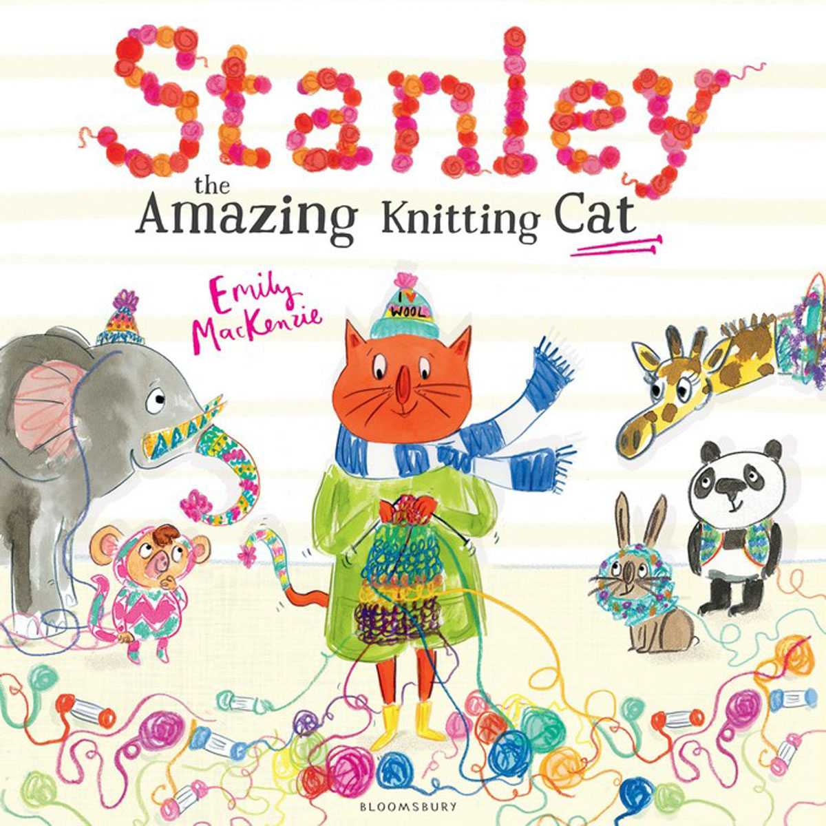 Stanley the Amazing Knitting Cat 10 01698 002 stanley