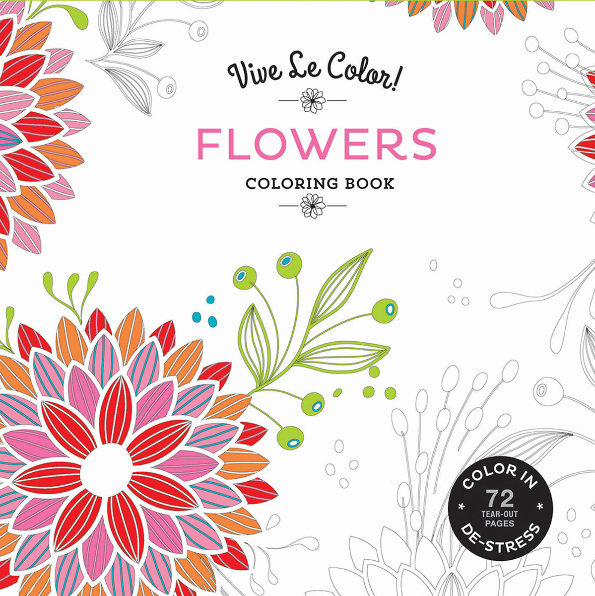 Vive Le Color! Flowers (Adult Coloring Book) fantasy dream painted series of vines flowers for adult children antistress art drawing painting secret garden colouring book