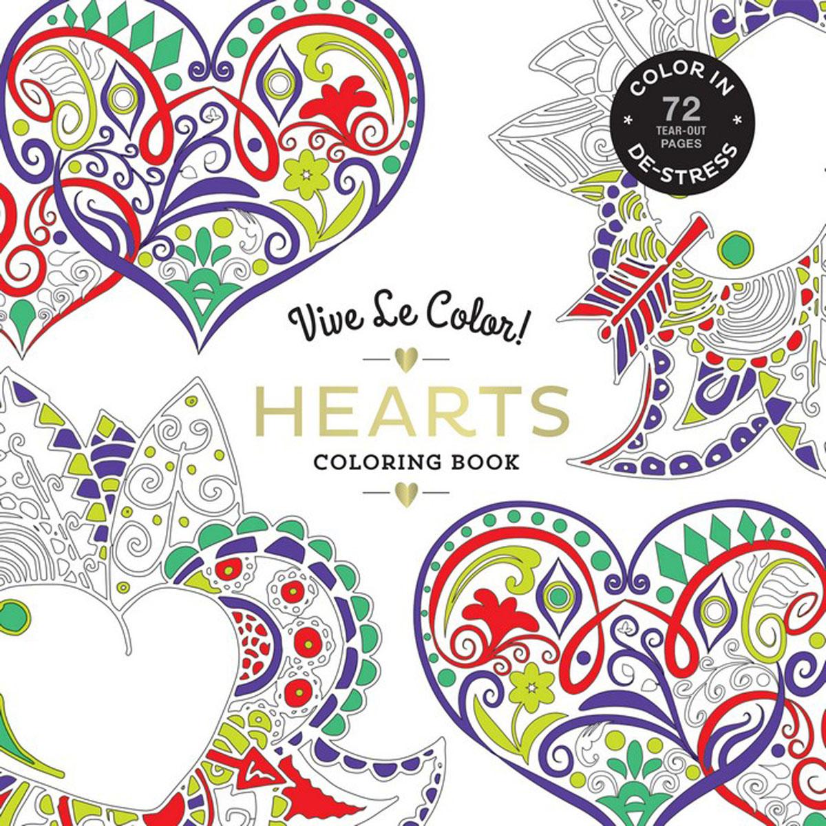 Vive Le Color! Hearts (Adult Coloring Book) vive le color mandala adult coloring book