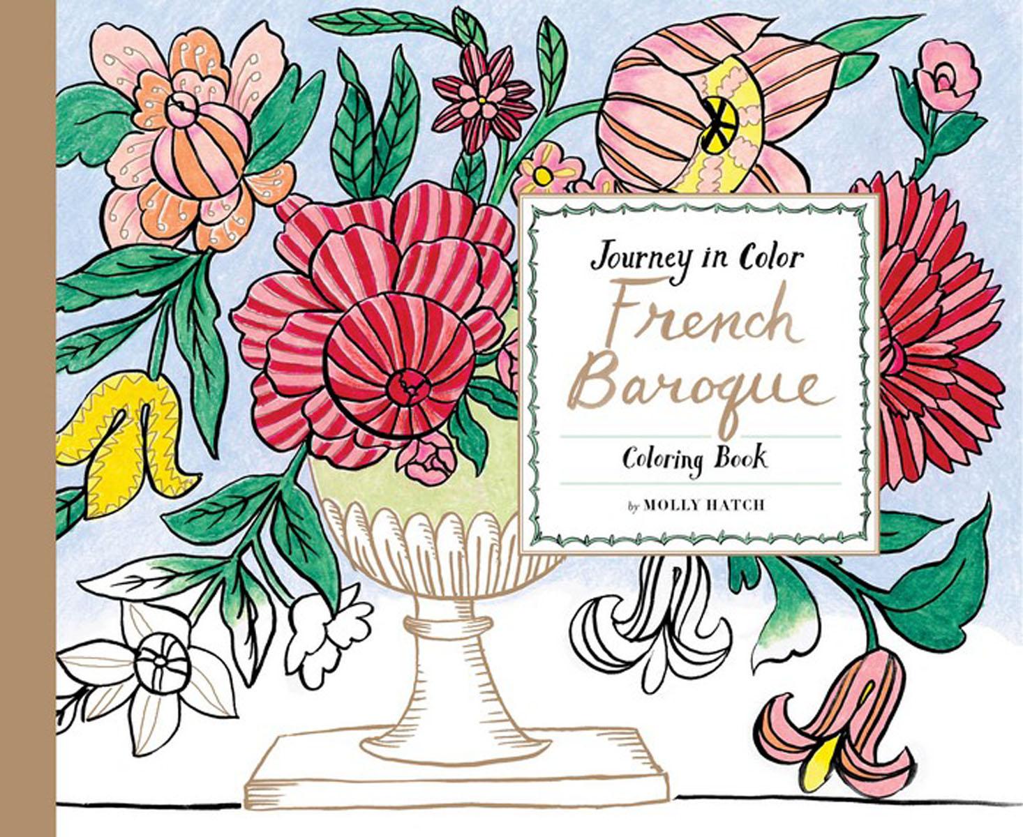 Journey in Color: French Baroque Coloring Book coloring of trees