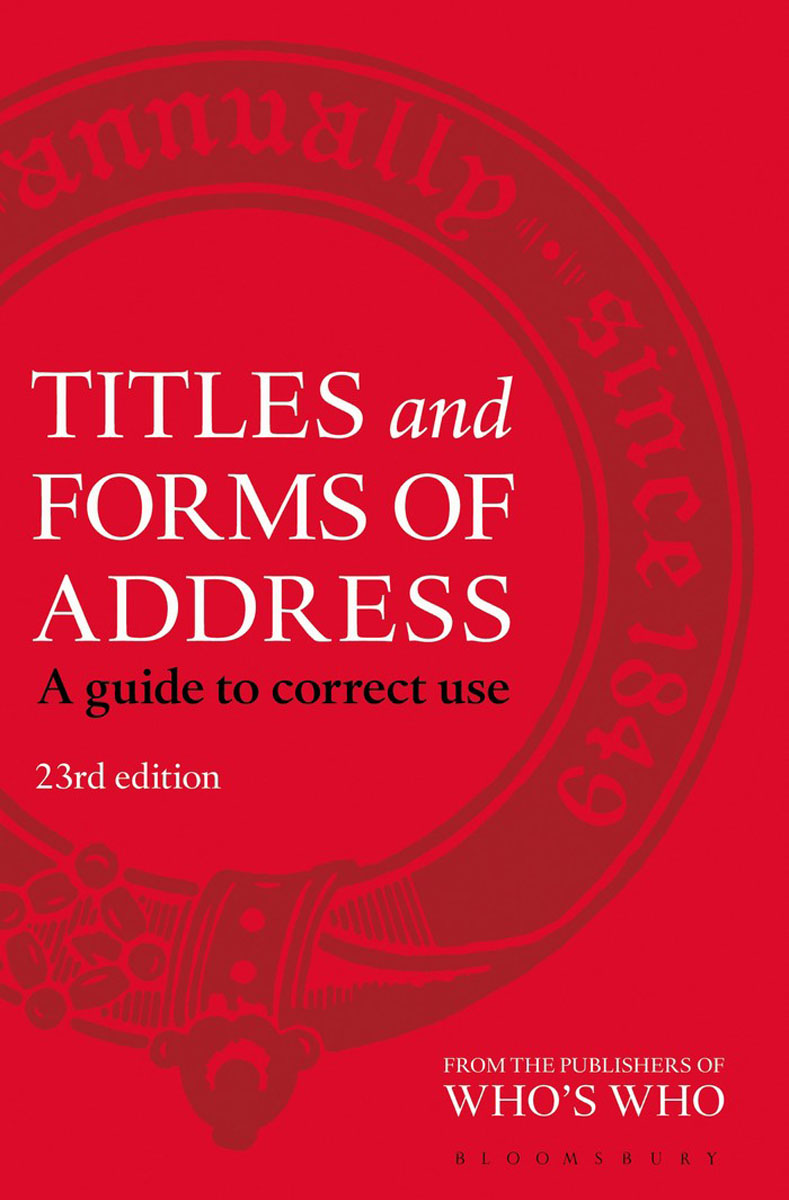 Titles and Forms of Address titles and forms of address